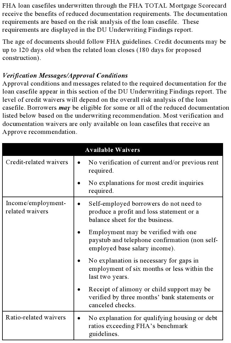 fha underwriting guidelines fha desktop underwriter du allows for rh activerain com Self-Employed Meme Self-Employed Funny